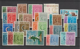 Europa Année Complète 1966 37 Val ** MNH - Komplette Jahrgänge