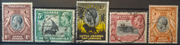 KENYA, UGANDA & TANGANYIKA 1935 - MLH/canceled - Sc# 46, 47, 48, 49, 50 - Kenya, Uganda & Tanganyika