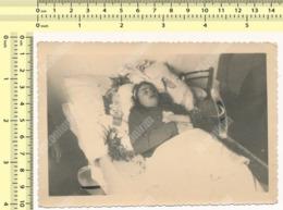 REAL PHOTO  Post Mortem Dead Woman, Death Of A Lady, Femme Morte Post Mortem, Mort D'une Dame ORIGINAL SNAPSHOT - Personnes Anonymes