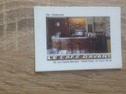Carte De Visite De Bar Restaurant   Le Café D' Avant   Paris 5eme - Cartes De Visite