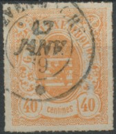 Luxembourg (1865) N 25 (o) Signe - 1859-1880 Coat Of Arms