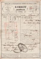 1858 / G CHRIST / Cie Chemins De Fer De L'Est / 68 Guebwiller / Camionnage Bollwiller Soultz / Cachets Correspondants - Colis Postaux