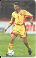 CARTE-PUCE-ROUMANIE-2000- Gem6-JOUEUR FOOT EQUIPE NATIONALE-N°2-D.PETRESCU-G-BE - Sport