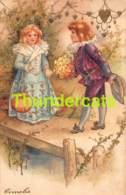CPA EN RELIEF GAUFREE ENFANT ENFANTS  EMBOSSED CARD CHILD CHILDREN CLAPSADDLE - Dessins D'enfants