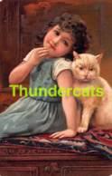 CPA EN RELIEF GAUFREE ENFANT ENFANTS  EMBOSSED CARD CHILD CHILDREN CHAT CAT PFB - Dessins D'enfants