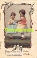 CPA EN RELIEF GAUFREE ENFANT ENFANTS  EMBOSSED CARD CHILD CHILDREN MAUSI ASCHER ZURICH - Dessins D'enfants
