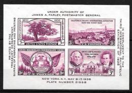 ETATS UNIS 1936   TIMBRES DE 1935-1938 IMPRIMES ENSEMBLE - United States
