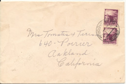 Italy Cover Sent To USA  2-7-1947 - 6. 1946-.. Repubblica