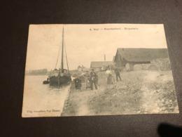 NIEL - Steenbakkerij / Briqueterie - Prachtzicht Met Animatie - Rupel - Boot - Uitg. Gezusters Van Dessel - 1914 - Niel