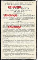 Oorlog Guerre Albert Jansen Brugge Rijkswacht Gendarmerie Oostende Oudstrijder 1940 En Overleden 1941 Gendarm Police - Images Religieuses
