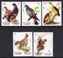 SHARJAH - 1972 BIRDS SET 1ST SERIES (5V) FINE MNH ** Mi 1036-1040 - Sharjah