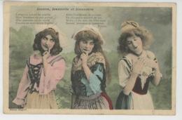 FEMMES - FRAU - LADY - Jolie Carte Fantaisie Portrait Femmes JEANNE , JEANNETTE ET JANNETON - Edit. BERGERET - Vrouwen