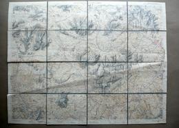 Cortina D'Ampezzo E Dolomiti Cadorine Carta Topografica A Colori TCI 1928 Alpi - Altre Collezioni