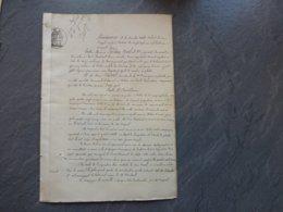 79 Sauzeé-Vaussais 1872 Incendie Usine Lampisterie Leplay Noël  & Cie ; Ref 844; PAP09 - Documents Historiques