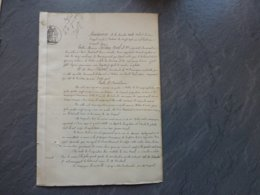 79 Sauzeé-Vaussais 1872 Incendie Usine Lampisterie Leplay Noël  & Cie ; Ref 844; PAP09 - Historische Dokumente