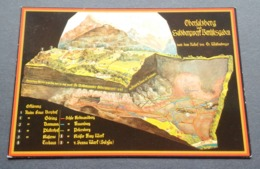 Germany Allemagne Deutschland Obersalzberg Und Salzbergwerk Berchtesgaden Reliefkarte Salt Mine Relief Map (11x16cm) - Berchtesgaden