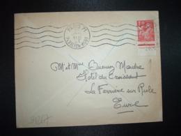LETTRE TP IRIS 1F BAS DE FEUILLE Daté 28.5 OBL.MEC.22 JUIL 41 PARIS 71 - 1939-44 Iris