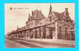 CPA PERUWELZ : La Gare ( Intérieur ) ( N° 386 ) Circulée En 1925 -  2 Scans - Péruwelz