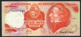 URUGUAY P53b 10.000 PESOS 1974 Signature 12 Serie B FINE NO P.h. ! - Uruguay