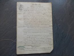 85 Saint-Hilaire-de-Loulay 1872, Procès Lande De Roussay, Comte De Cornulier, Marquis De Juigné Etc ; Ref 847 ; PAP09 - Documentos Históricos