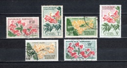 GABON  N° 153 à 158   OBLITERES  COTE 2.00€  FLEUR - Gabon (1960-...)