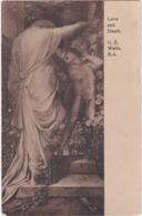 D1779 LOVE AND DEATH - G. F. WATTS, R.A. - WOODBURY SERIES - N°6340 - Peintures & Tableaux