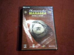 PC  CD ROM  °  CHAMPIONSHIP MANAGER  EPOCA 01 / 02  E O JOGO MAIS IMPORTANTE DA SUA VIDAI - Autres Collections