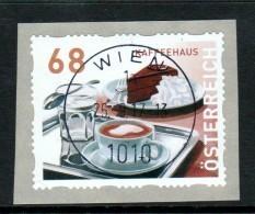 """Österreich 2017: """"Dispensermarke - Kaffeehaus""""  Sk. Auf Papier Gestempelt (siehe Foto/Scan) - 1945-.... 2ème République"""
