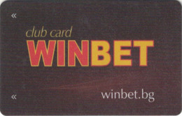BULGARIA KEY CASINO  WinBet Club Card - SOFIA - DIFFERENT TYPE - Casinokarten