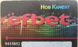 BULGARIA KEY CASINO  EFBET New Customer - SOFIA - DIFFERENT TYPE - Casino Cards