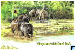Sri Lanka Stamps 2019, Wasgamuwa National Park, Elephants, Elephant, MS - Sri Lanka (Ceylon) (1948-...)