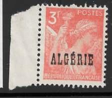 Yvert 236 Maury 238 - 3 F Rouge-orange - Bord De Feuille - (*) - Algeria (1924-1962)