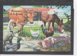 """FRANCE  - CAnimaux De La Ferme :  Lapin, Poule, Vache, Baudet - """"Nature De France"""" - Franz. Revolution"""