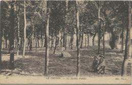 LE CROTOY (Somme) Le Jardin Public Cachet: Ecole Militaire D'aviation / Service Postal / Le Crotoy. - Abbeville