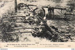 GUERRE 1914- 1918 WW1  Sur La Ligne De Feu- Soldats Belges Dans La Tranchée De Diest  ... - Guerra 1914-18