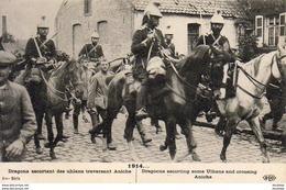 GUERRE 1914- 1918 WW1  Dragons Des Uhlans Traversant Aniche  ... - Guerre 1914-18