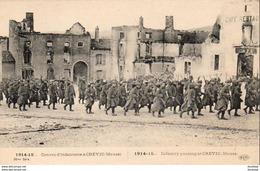 GUERRE 1914- 1918 WW1  Convoi D' Infanterie à CREVIC ... - Guerre 1914-18