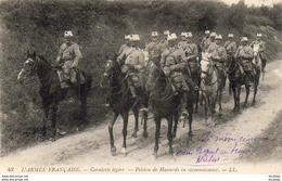 GUERRE 1914- 1918  WW1  Cavalerie Légére- Peleton De Hussards En Reconnaissance   ... - Guerra 1914-18