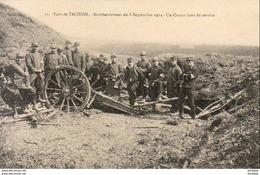 GUERRE 1914- 1918  WW1  TROYON  Font De TROYON- Bombardement Du 8 Septembre 1914- Un Canon Hors Service  ... - Guerra 1914-18