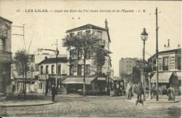 LES LILAS , Angle Des Rues Du Pré Saint Gervais Et De L' Egalité , CPA ANIMEE , 1925 - Les Lilas