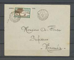 1931 Env. Nlle Calédonie 25c Surchargé PAR AVION Obl KONE Pour NOUMEA X4851 - Marcophilie (Lettres)