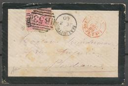 Env. POSS. AN/PAQ. FR. T N°2, Octogonal Rouge, Ile Maurice 17c Duplex BS3 X4899 - Poststempel (Briefe)