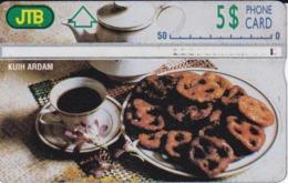 TARJETA DE BRUNEI CON CAFE Y PASTAS (807F) - Brunei