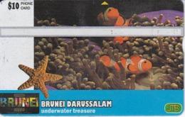TARJETA DE BRUNEI UNDERWATER TREASURE (010C) PEZ-FISH - Brunei