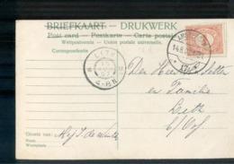 Lith Grootrond - Amsterdam Langebalk 17 - 1907 - Marcofilia