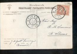 Burum Grootrond Stiens - 1907 - Marcophilie