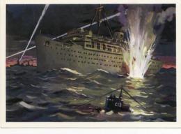 Russia Attack.military 1976. Defeat The Fascist Liner. Wilhelm Gustloff - Russland
