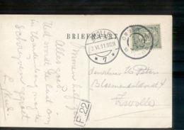 Ommen Grootrond - Zwolle Langebalk 7 - 1911 - Postal History