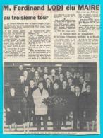 Hagondange Coupure De Journal Républicain Lorrain Annonçant Mr Ferdinant Lodi Maire - Kranten