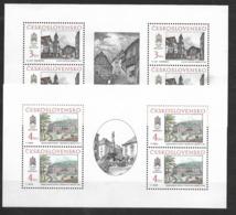 O-231-CZECHOSLOVAKIA 1988 GALERIA  BRATISLAVA -CAT. MICHEL NUMMER 2977-2978 MNH** - Blocks & Sheetlets